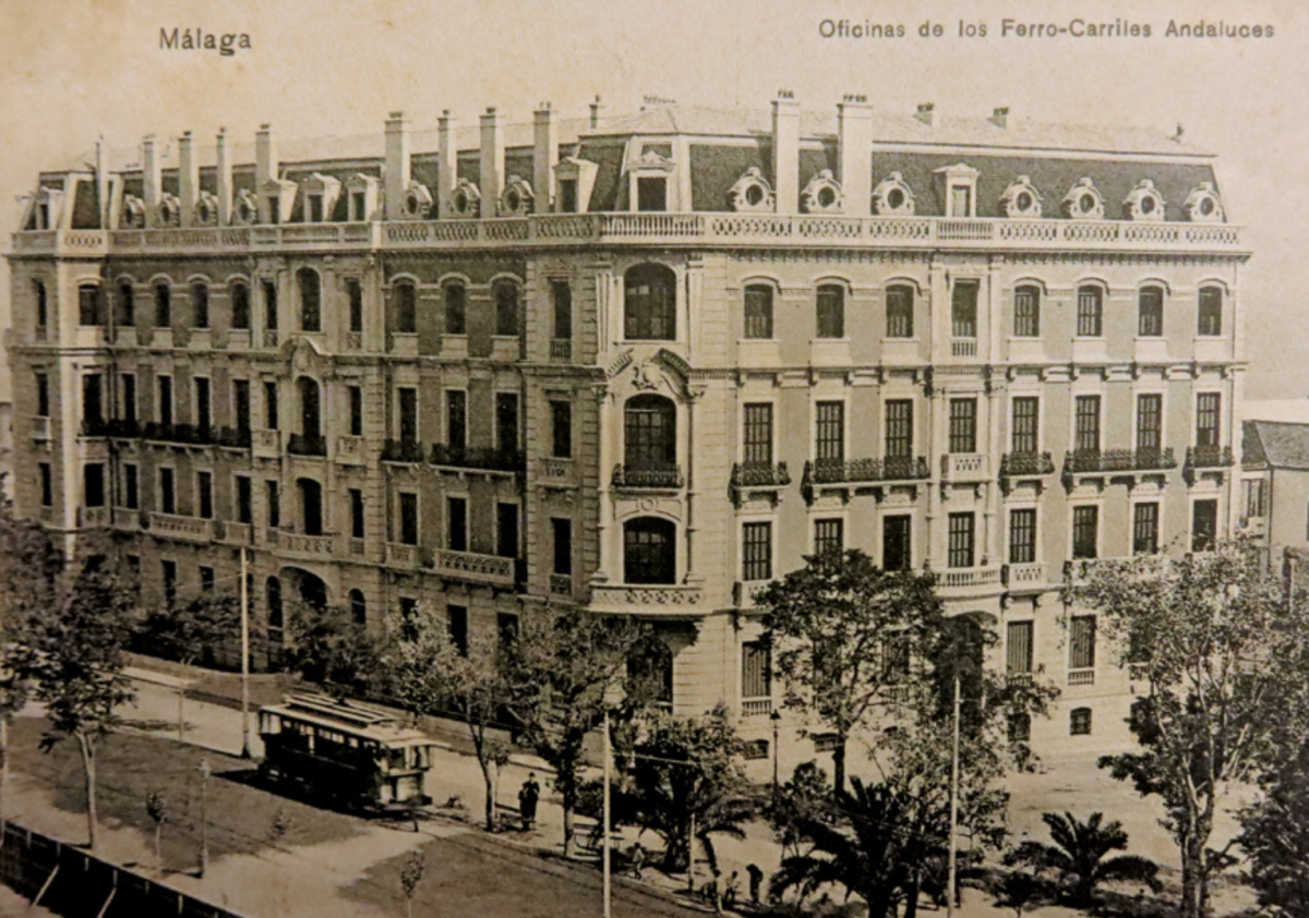 LA SEDE DE LOS FERROCARRILES ANDALUCES EN MÁLAGA. (PALACIO DE LA TINTA